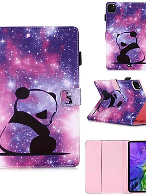cheap iPad case-Case For Apple iPad Pro 11''(2020) / iPad 2019 10.2 / Ipad air3 10.5' 2019 Wallet / Card Holder / with Stand Full Body Cases Baby Panda PU Leather / TPU for iPad Air / iPad Air2 / iPad (2018)