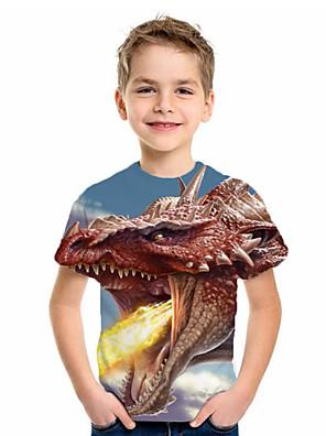 cheap Boys' Tops-Kids Boys' Basic Fantastic Beasts Animal Print Short Sleeve Tee Blue