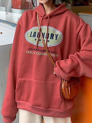 cheap Women's Pants-Women's Hoodie Letter Basic Hoodies Sweatshirts  Loose Red