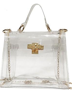 cheap Women's Blouses & Shirts-Women's Bags PU Leather / PVC Crossbody Bag Zipper for Daily White / Black / Purple