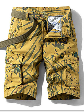 cheap Men's Pants & Shorts-Men's Basic Daily Loose Shorts Tactical Cargo Pants Camouflage Summer Blue Red Yellow US32 / UK32 / EU40 US36 / UK36 / EU44 US38 / UK38 / EU46
