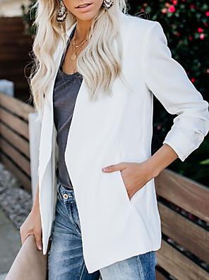 cheap Women's Coats & Trench Coats-Women's Blazer White / Purple / Blushing Pink S / M / L