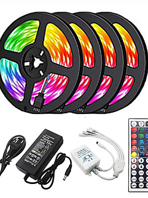 cheap Girls' Dresses-20m Light Sets 1200 LEDs 2835 SMD RGB Cuttable / Linkable / Suitable for Vehicles 100-240 V / Self-adhesive / IP44