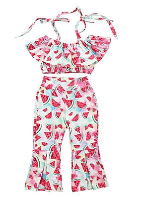 cheap Baby Girls' One-Piece-Baby Girls' Basic Fruit Short Sleeve Regular Clothing Set Blushing Pink