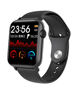 cheap Smart Watches-696 QS19 Unisex Smartwatch Smart Wristbands Android iOS Bluetooth Touch Screen Heart Rate Monitor Blood Pressure Measurement Sports Thermometer Timer Stopwatch Pedometer Call Reminder Find My Device