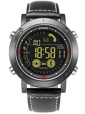 cheap Mechanical Watches-Unisex Sport Watch Digital Modern Style Fashion Water Resistant / Waterproof Genuine Leather Black Digital - White Black / Calendar / date / day