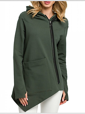 cheap Women's Blouses & Shirts-Women's Hoodie Solid Colored Basic Hoodies Sweatshirts  White Black Army Green