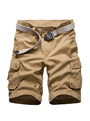 cheap Maxi Dresses-Men's Basic Daily Slim Shorts Tactical Cargo Pants Solid Colored Summer Black Yellow Army Green US38 / UK38 / EU46 US40 / UK40 / EU48 US42 / UK42 / EU50