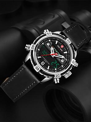 cheap Sport Watches-KADEMAN Men's Sport Watch Quartz Modern Style Sporty Casual Water Resistant / Waterproof Leather Analog - Digital - Golden / Brown Black / Silver Black / Stainless Steel / Calendar / date / day