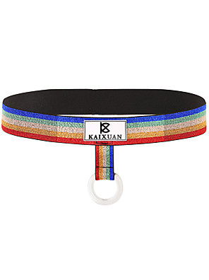 cheap Men's Exotic Underwear-Men's Print G-string Underwear - Normal Low Waist Gold Silver Rainbow S M L