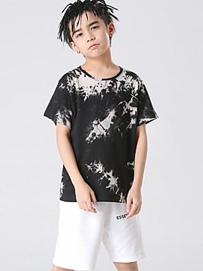 cheap Boys' Tops-Kids Boys' Basic Tie Dye Short Sleeve Tee Black