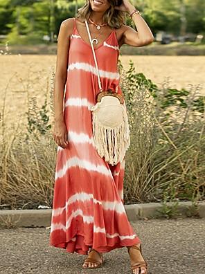 cheap Maxi Dresses-Women's A-Line Dress Maxi long Dress - Sleeveless Striped Summer Casual 2020 Blue Purple Blushing Pink Orange Green Gray S M L XL XXL XXXL XXXXL XXXXXL