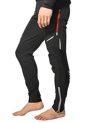 cheap Hiking Trousers & Shorts-ROCKBROS Men's Cycling Pants Bike Pants / Trousers Bottoms Reflective Windproof Breathable Sports Polyester Spandex Coolmax® Black / White Mountain Bike MTB Road Bike Cycling Clothing Apparel Bike