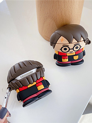 cheap Earphone Accessories-Cute Anime Boy Case For Apple Airpods  Cover Funny Cartoon Headphone Case Box For Air pods 2/1 Earphone Case Silicone Funda