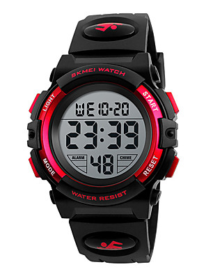 cheap Kids' Watches-SKMEI Kids Digital Watch Digital Sporty Outdoor Calendar / date / day Black / Blue / Red Digital - Black Blue Red One Year Battery Life / Chronograph / Stopwatch / Noctilucent