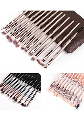 cheap Makeup Brush Sets-Professional Makeup Brushes 12pcs Soft Plastic for Foundation Brush Eyeshadow Brush Makeup Brush Set