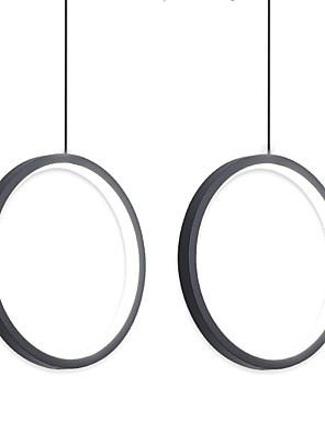 cheap Evening Dresses-2pcs/lot Dia40 cm LED20W Mini Pendant Light Aluminum Circle / Mini Painted Finishes Black White Frame for Living Bed Dinning Room Modern 110-120V / 220-240V