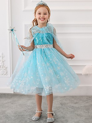 cheap Flower Girl Dresses-Princess / Ball Gown Tea Length Wedding / Party Flower Girl Dresses - Tulle Sleeveless Jewel Neck with Bow(s) / Paillette