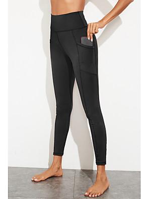 cheap Leggings-Women's Sports / Yoga Sporty / Basic Legging - Solid Colored, Sporty / Stripe High Waist Black Purple S M L