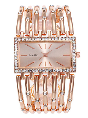 cheap Square & Rectangular Watches-Women's Quartz Watches Quartz Stylish Casual Casual Watch Silver / Gold / Rose Gold Analog - Rose Gold Gold Silver One Year Battery Life / Large Dial
