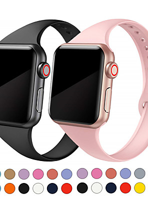cheap Smart Watches-Silica Gel Watch Band Strap for Apple Watch Series 5/4/3/2/1 20cm / 7.9 Inches 1.5cm / 0.6 Inches