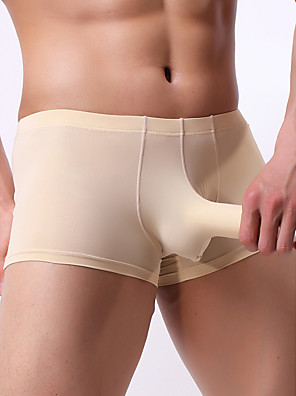 cheap Men's Exotic Underwear-Men's Basic Boxers Underwear - Normal Low Waist White Black Blue M L XL