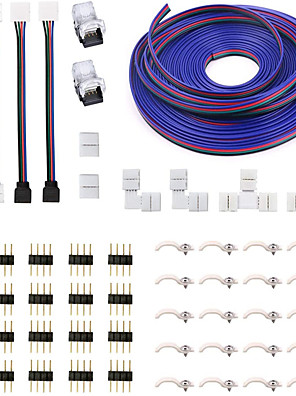 cheap Maternity Dresses-5050 4Pin RGB LED Strip Connector Kit - include 5M RGB Extension Cable 2x T & L Shape Connectors 4x Strip Jumper 2x Gapless Connector 20x LED Strip Clip 20x Male Connector 2x Quick Connector