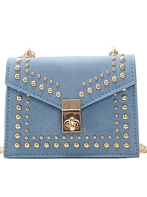 cheap Quartz Watches-Women's Bags PU Leather Crossbody Bag Zipper for Daily Black / Blue / Red / Yellow / Blushing Pink