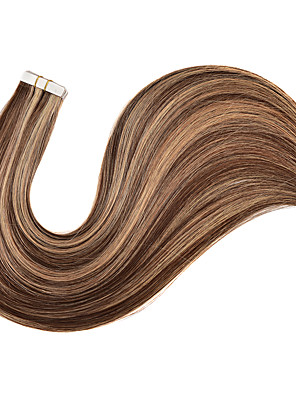 cheap Evening Dresses-Tapes Hair Extensions Remy Human Hair 20pcs Pack Straight Hair Extensions
