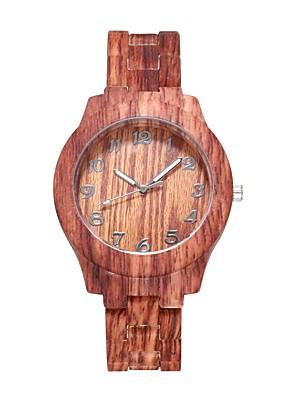 cheap Quartz Watches-Women's Quartz Watches Quartz Stylish Fashion Adorable Wood Brown Analog - Wood White Brown One Year Battery Life