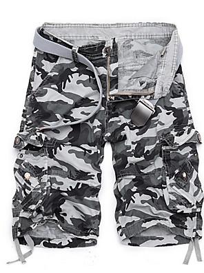 cheap Men's Pants & Shorts-Men's Basic Daily Slim Shorts Tactical Cargo Pants - Solid Colored Summer Army Green Fuchsia Khaki US38 / UK38 / EU46 / US40 / UK40 / EU48 / US42 / UK42 / EU50