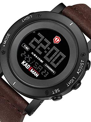 cheap Sport Watches-KADEMAN Men's Sport Watch Digital Modern Style Sporty Cool Water Resistant / Waterproof Leather Digital - Golden / Brown Black+Gloden Black / Calendar / date / day / Noctilucent