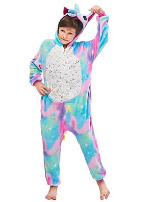 cheap Smart Watches-Kid's Kigurumi Pajamas Flying Horse Onesie Pajamas Flannelette Blue Cosplay For Men and Women Animal Sleepwear Cartoon Festival / Holiday Costumes