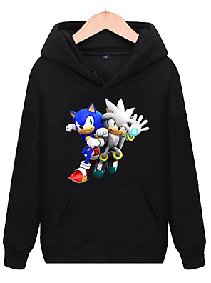 cheap Boys' Tops-Kids Boys' Active Basic Rainbow Long Sleeve Hoodie & Sweatshirt Black