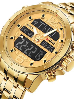 cheap Sport Watches-KADEMAN Men's Sport Watch Quartz Modern Style Stylish Outdoor Water Resistant / Waterproof Stainless Steel Analog - Digital - Black / Pink Black Blue / Calendar / date / day / Noctilucent