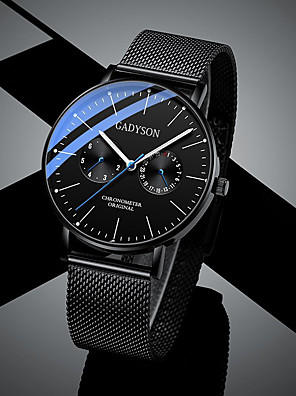 cheap Sport Watches-Men's Sport Watch Quartz Casual Altimeter Black Analog - White Black Blushing Pink / Chronograph / Luminous / Noctilucent / Large Dial