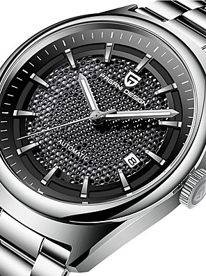 cheap Quartz Watches-PAGANI Men's Mechanical Watch Automatic self-winding Modern Style Stylish Casual Water Resistant / Waterproof Stainless Steel Analog - Black / Silver Golden+Silver White+Golden / Noctilucent