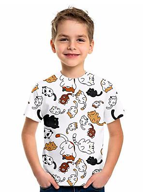cheap Boys' Tops-Kids Boys' Sports & Outdoors Basic Holiday Animal Short Sleeve Tee White