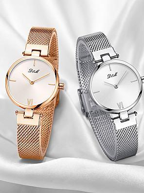 cheap Quartz Watches-DOM Women's Quartz Watches Quartz Modern Style Stylish Casual Water Resistant / Waterproof Stainless Steel Analog - Gold Silver