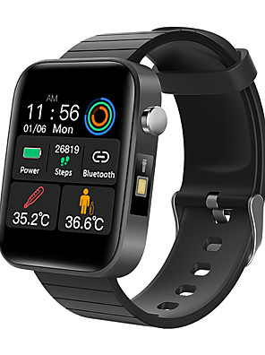 cheap Smart Watches-T68 Men's Smart Wristbands Android iOS Bluetooth Heart Rate Monitor Blood Pressure Measurement Calories Burned Thermometer Health Care Pedometer Call Reminder Sleep Tracker Sedentary Reminder Find My