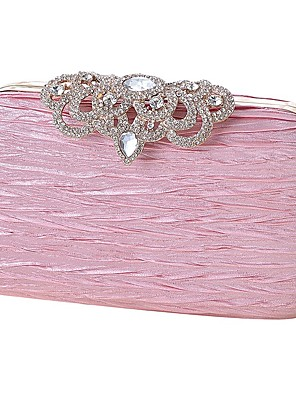 cheap Evening Dresses-Women's Bags Silk Evening Bag Crystals Sequin for Party / Event / Party Black / Blushing Pink / Champagne / Wedding Bags