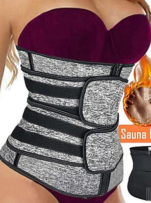 cheap Gymnastics-Waist Trainer Vest Neoprene Waist Trainer Shaper Slimming Belt Sports Neoprene Home Workout Yoga Gym Workout Adjustable Zipper Tummy Control For Men Women