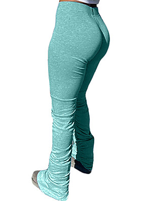 cheap Leggings-Women's Daily Weekend Sweatpants Pants - Solid Colored White Black Yellow S / M / L