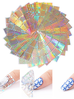 cheap Smart Watches-24 pcs Foil Sticker Creative nail art Manicure Pedicure Multi Function / Color Gradient Trendy / Fashion Party / Evening / Daily