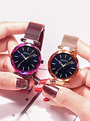 cheap Quartz Watches-DEFORCE Women's Quartz Watches Quartz Modern Style Stylish Casual Water Resistant / Waterproof Stainless Steel Analog - Rose Gold Black Dark Purple