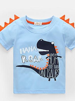 cheap Boys' Tops-Kids Boys' Street chic Animal Short Sleeve Tee Blue