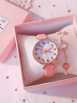 cheap Quartz Watches-Kids Quartz Watches Quartz Novelty Stylish New Arrival Chronograph PU Leather Black / White / Blue Analog - White Black Blue