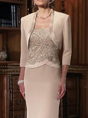 cheap Wedding Wraps-3/4 Length Sleeve Shrugs Satin Wedding / Party / Evening Women's Wrap With Split Joint
