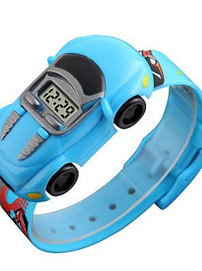 cheap Digital Watches-SKMEI Kids Digital Watch Digital Fairytale Theme Cartoon Creative Black / Blue / Red Digital - Black Blue Red One Year Battery Life