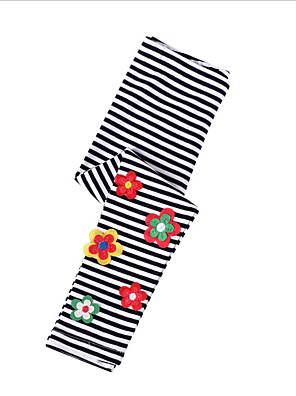 billige Bukser og leggings til piger-Børn Pige Stribet Leggings Sort